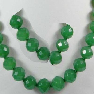 Em 0457a perles 10mm emeraude bolivie facettees loisirs creatifs achat vente creation bijoux
